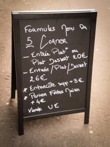 le five corner - formules